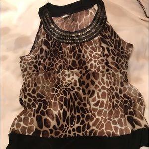 Tops - Tortoise print blouse